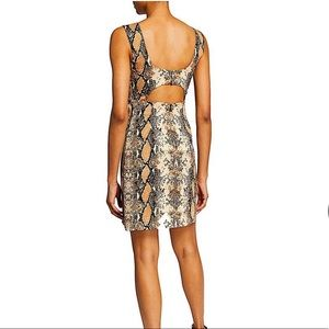 Diane von Furstenberg Snake Skin Tessa Dress SZ 8